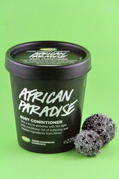 african paradise von lush ein body conditioner burgdame. Black Bedroom Furniture Sets. Home Design Ideas