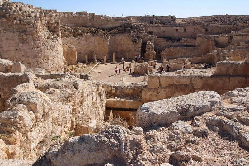 Herodium, Herodion, Ruinen in der Wüste Negev