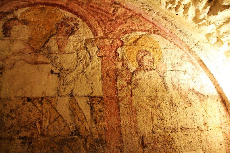 Fresken in der St. Veists Krypta