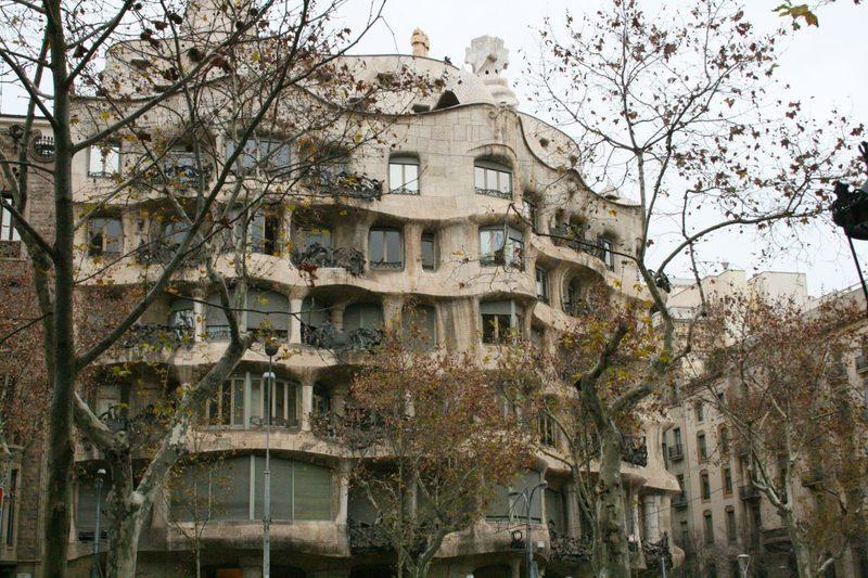 Casa Mila, Antoni Gaudi in Barcelona
