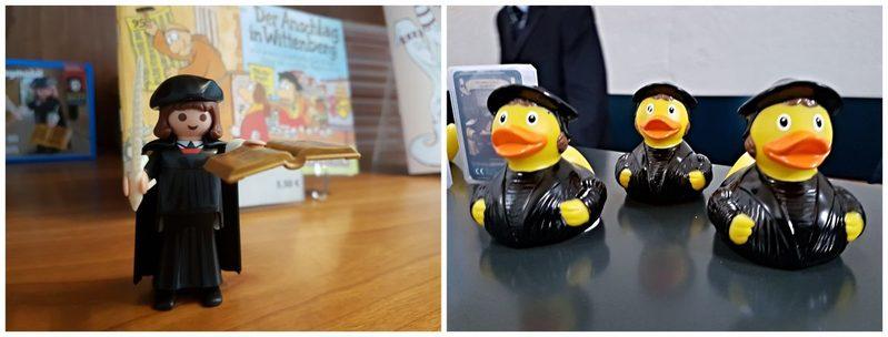 Lego Luther und Bugenhagen für die Badewanne