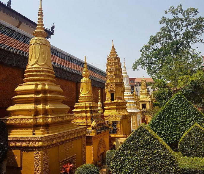 Siem Reap, buddhistische Gräber