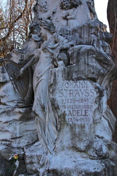 Grab von Johann Strauss auf dem Zentralfriedhof in Wien