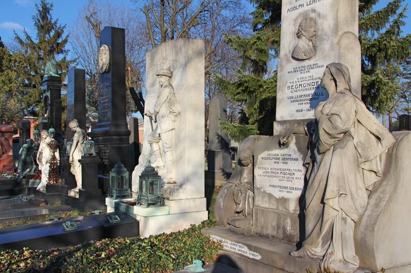 Prunkvolle Gräber, alter Friedhof in Wien