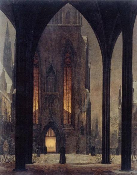 """Ernst Ferdinand Oehme """"Dom im Winter"""" 1821"""