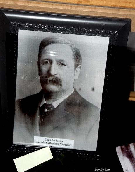 Foto von Inspektor Swanson, Robert C. Marley, Kriminalmuseum Lemgo