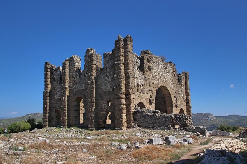 Byzantinische Ruinen, Ruinen von Aspendos, Sehenswürdigkeiten bei Side