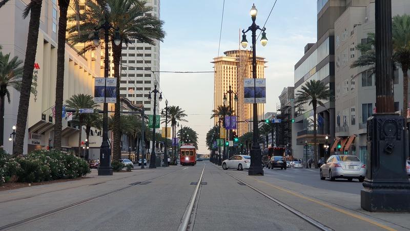 New Orleans, French Quarter, Südstaaten, Stadt mit Palmen