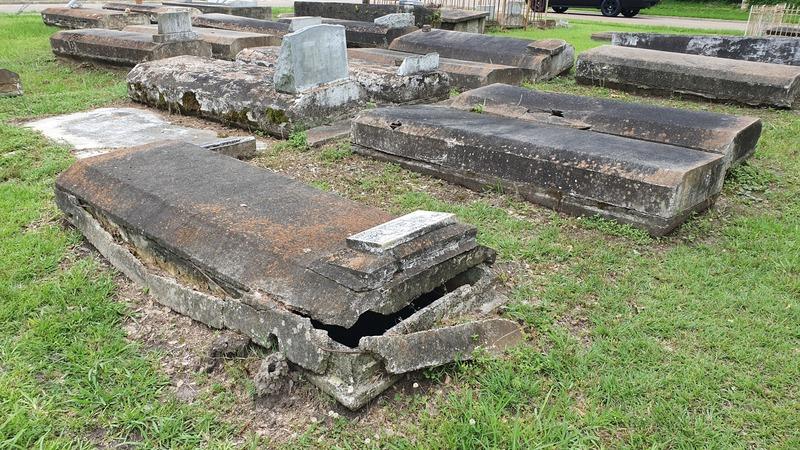 alter Friedhof Lake Charles, verfallener Friedhof, Louisiana