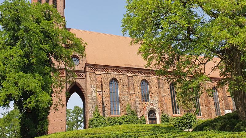 Sehenswerte Stadt in Brandenburg, Müncheberg, Gotische Backsteinkirche