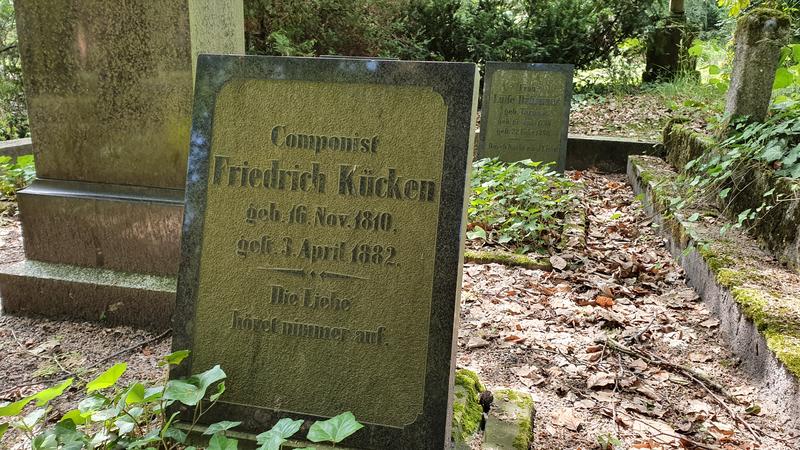 alter Friedhof Schwerin, alte Grabsteine, verfallene Gräber in Mecklenburg-Vorpommern