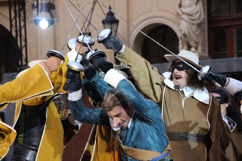 Cyrano de Bergerac, Musketiere