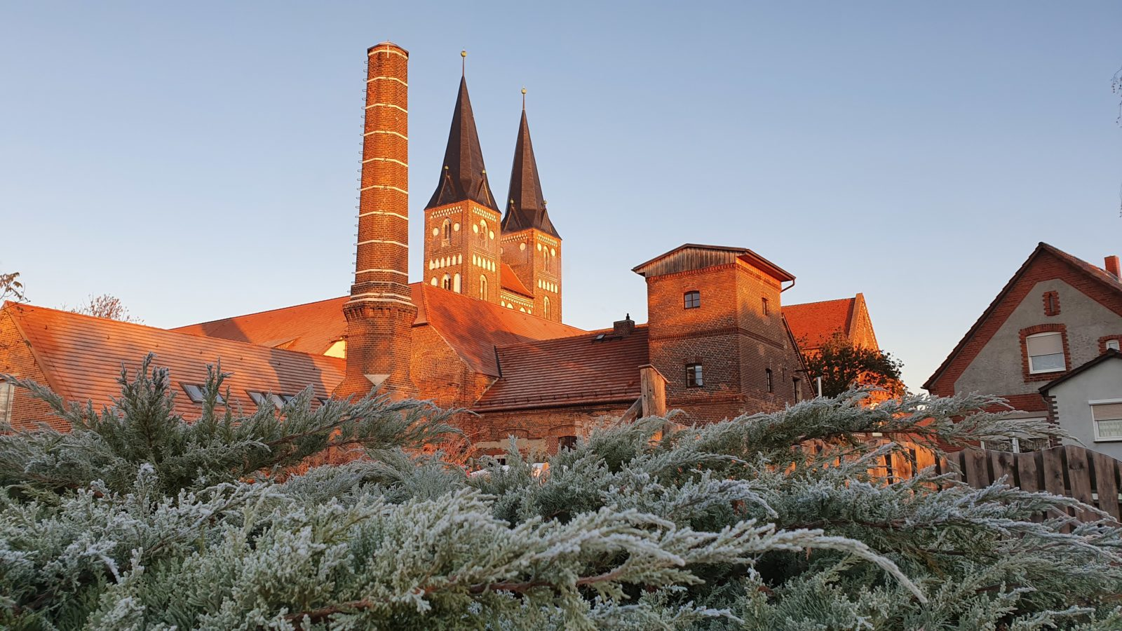 Brennerei im Kloster Jerichow, Kloster im Winter