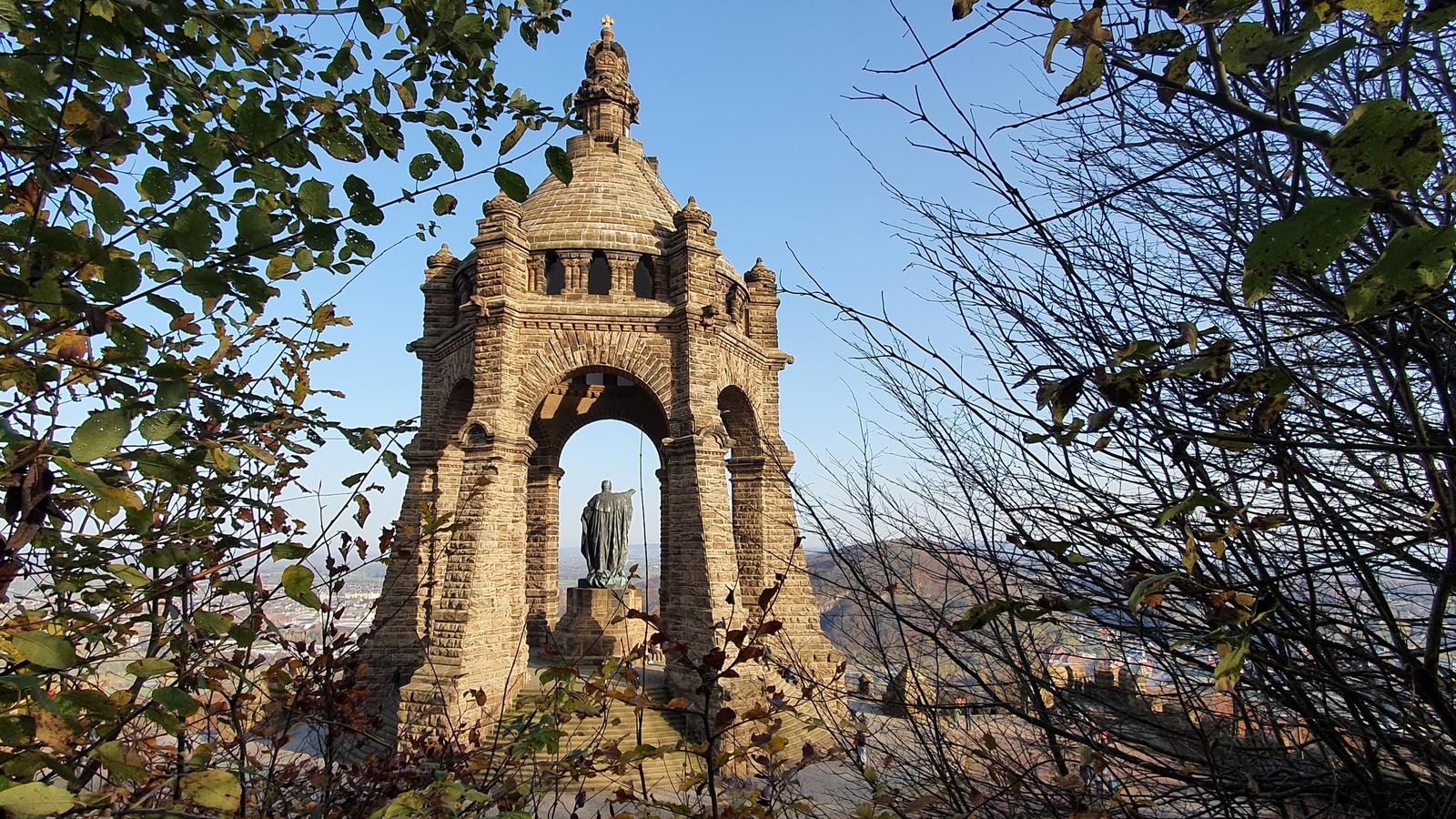 Kaiser Wilhelm Denkmal in Porta Westfalica, Weserbergland, Wandern am Kaiser Wilhelm Denkmal
