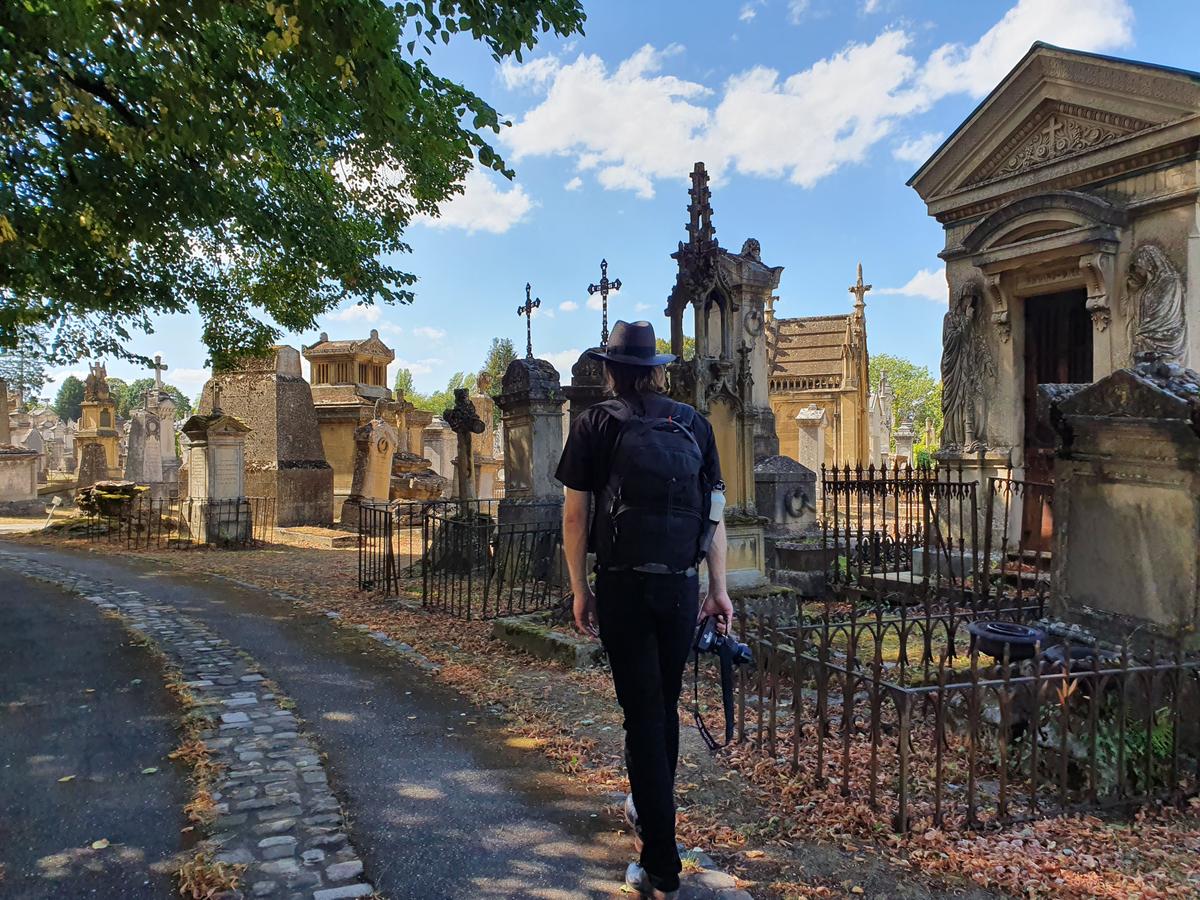 Friedhof in Metz, Friedhof mit verfallenen Mausoleen, Sehenswürdigkeiten von Metz