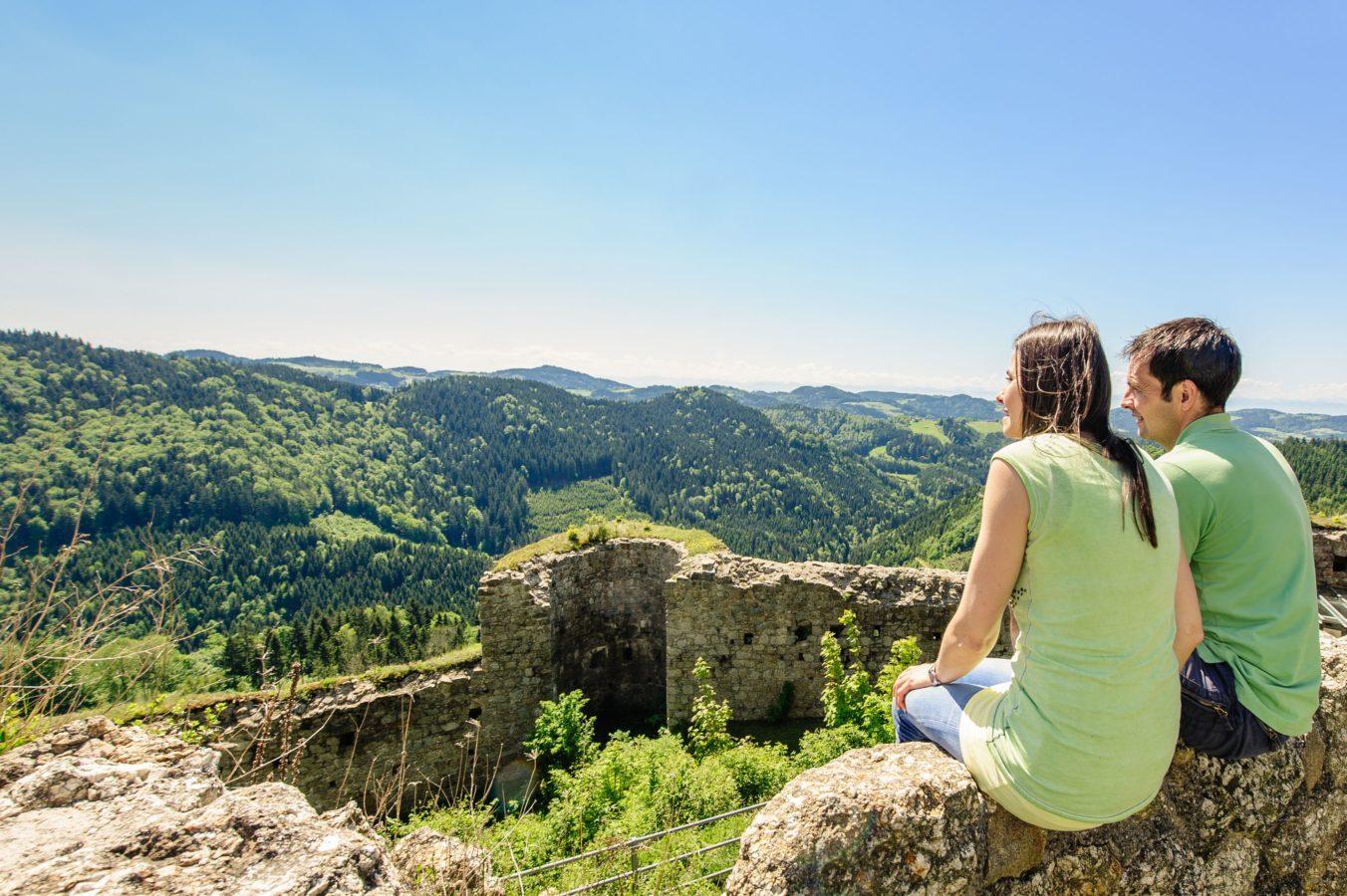 Burgen- und Schlösserweg in Österreich, Burgen in Oberösterreich, Wanderwege zu Burgen und Schlössern, Mühlviertel, Burg Ruttenstein